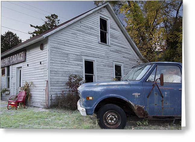 Blue Truck Greeting Card by Jim Baker