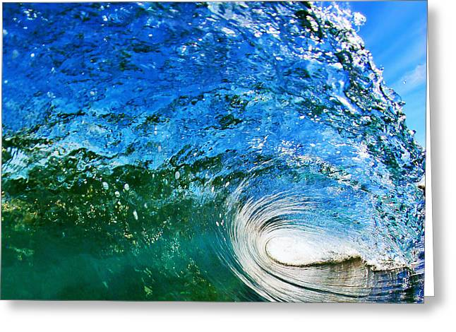 Surfer Greeting Cards - Blue Tube Greeting Card by Paul Topp