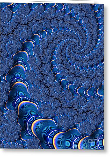 Mesh Greeting Cards - Blue Tubes Greeting Card by John Edwards