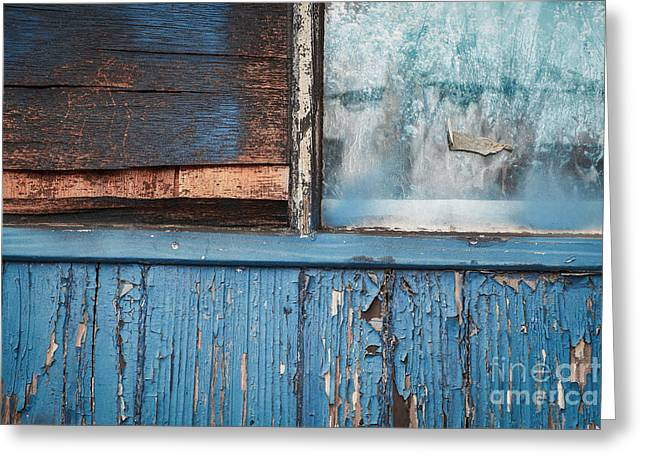 Abandonment Greeting Cards - Blue Turns to Grey Greeting Card by Dean Harte