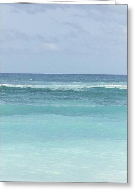 Greeting Cards - Blue Turquoise Teal Beach Gradient Photo Art Print Greeting Card by Ocean Photos
