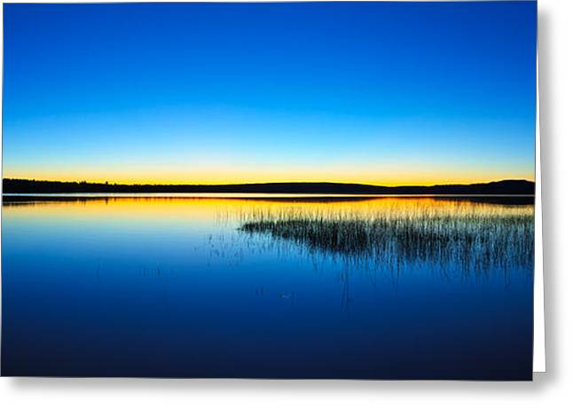 Maine Landscape Greeting Cards - Blue Twilight Panorama Greeting Card by Bill Caldwell -        ABeautifulSky Photography