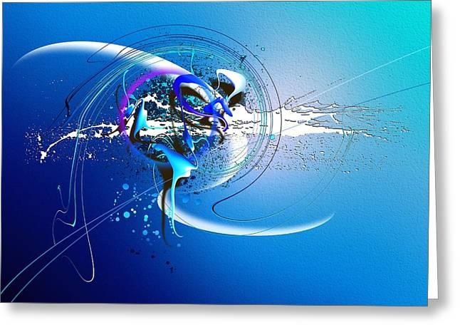 Velvet Greeting Cards - Blue Velvet Greeting Card by Franziskus Pfleghart