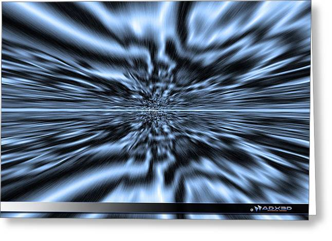 Vertigo Digital Art Greeting Cards - Blue Vertigo Greeting Card by ADX ThreeD