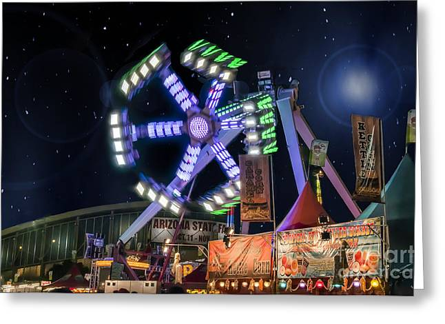 Arizona State Fair Greeting Cards - Blue Vertigo Greeting Card by Van Allen Photography