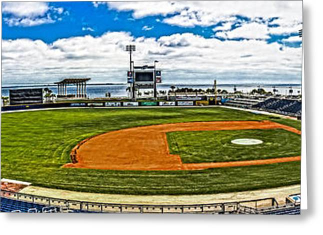 Wahoo Greeting Cards - Blue Wahoos Stadium Greeting Card by Jon Cody