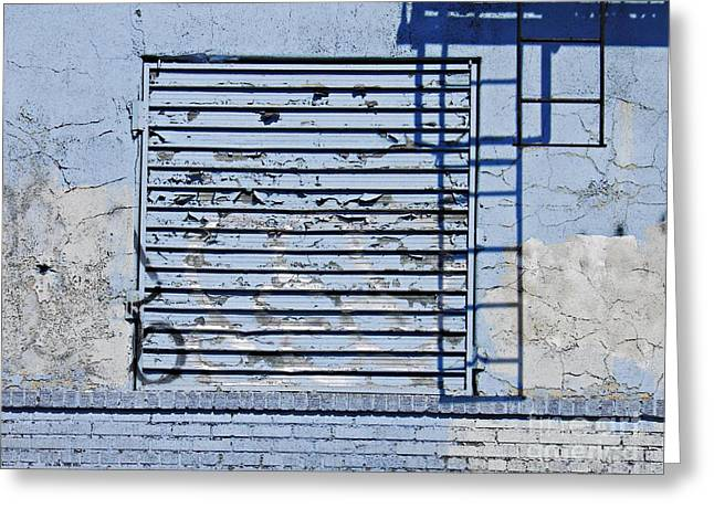 Blue Wall Greeting Card by Sarah Loft