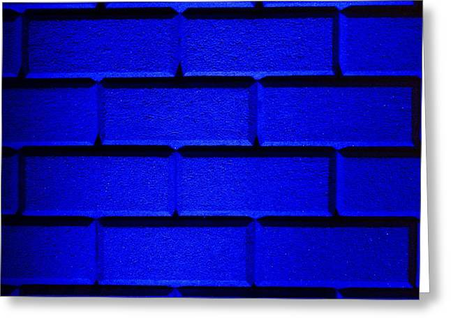 Geometric Effect Greeting Cards - Blue Wall Greeting Card by Semmick Photo