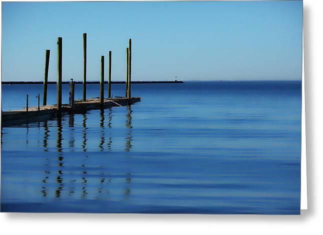Smoothness Greeting Cards - Blue Water Greeting Card by Karol  Livote