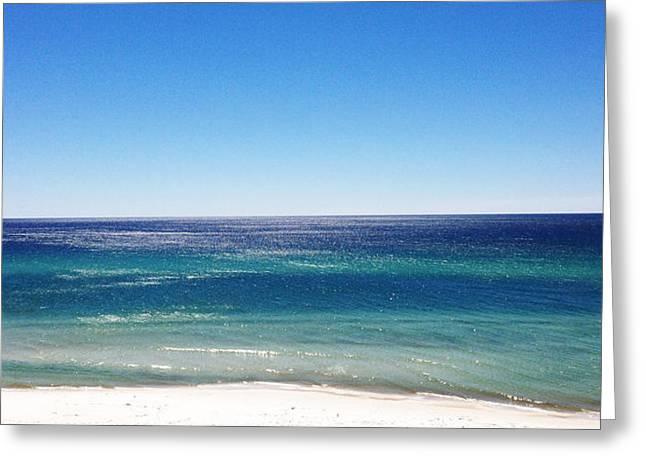 Panama City Beach Greeting Cards - Blue Waters Greeting Card by Nick Degennaro