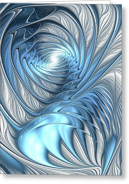 Deviant Greeting Cards - Blue Wave Greeting Card by Anastasiya Malakhova