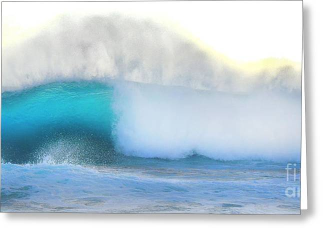 Surfing Art Greeting Cards - Blue Wave Greeting Card by Kristine Merc