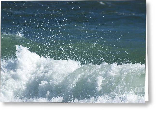 Oceano Greeting Cards - Blue Wave Wonder Greeting Card by Anahi DeCanio