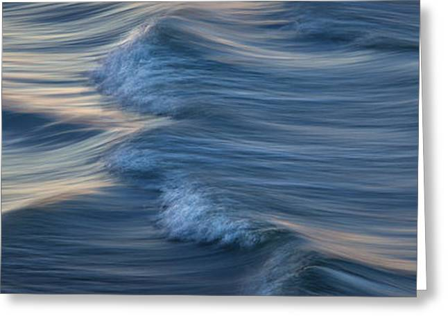 Best Seller Greeting Cards - Blue Waves Greeting Card by Gallery Fifty Three