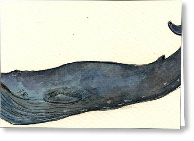Blue Whale Greeting Card by Juan  Bosco