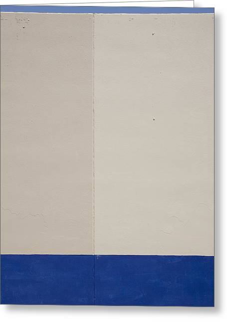 Ross Odom Greeting Cards - Blue White and Blue Greeting Card by Ross Odom