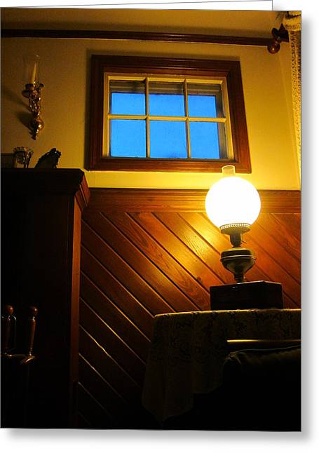 Guy Ricketts Photography Greeting Cards - Blue Window Greeting Card by Guy Ricketts
