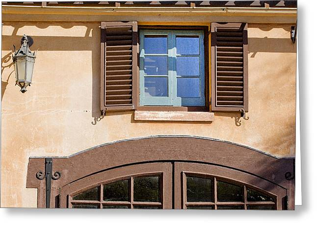 Historic Home Greeting Cards - Blue Window too DB Greeting Card by Rich Franco