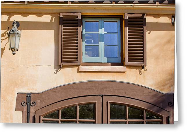 Historic Home Greeting Cards - Blue Window Too Greeting Card by Rich Franco