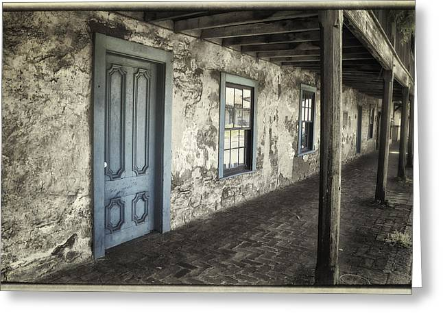 Wooden Building Greeting Cards - Blue Wing Inn Greeting Card by Joan Carroll