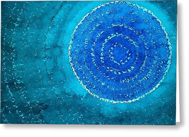Blue World Original Painting Greeting Card by Sol Luckman