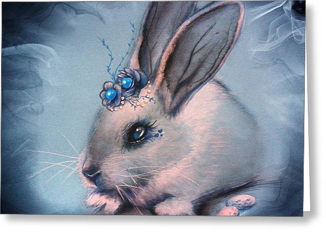 Bunny Greeting Cards - BlueBell Greeting Card by Sheena Pike