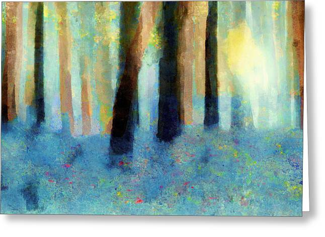 Bluebell Wood Greeting Card by Valerie Anne Kelly