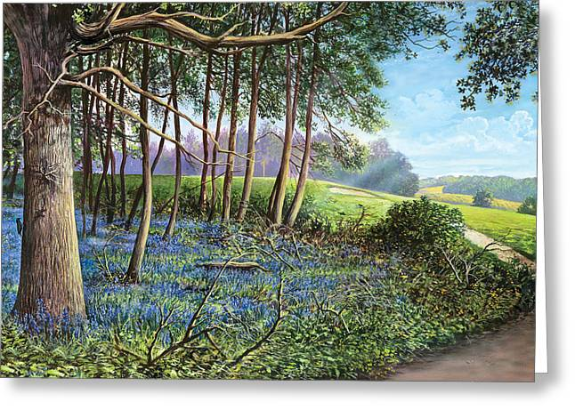 Crisp Greeting Cards - Bluebells Greeting Card by Steve Crisp