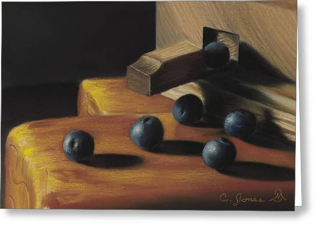 Blueberry Pastels Greeting Cards - Blueberries #3 Greeting Card by Charles T Jones