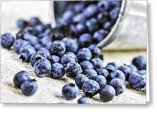 Organic Photographs Greeting Cards - Blueberries Greeting Card by Elena Elisseeva