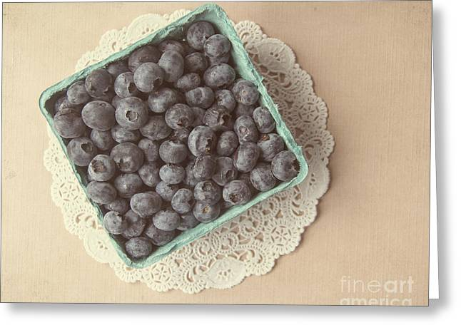 Blueberries Greeting Card by Jillian Audrey Photography