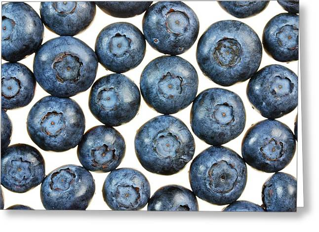 Blueberries Greeting Cards - Blueberries Greeting Card by Jim Hughes