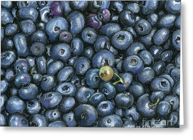 Blueberry Pastels Greeting Cards - Blueberries Greeting Card by Pat Oldham