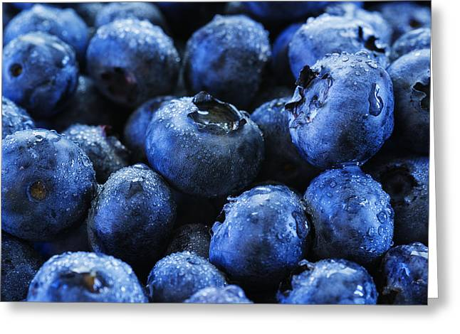 Fresh Produce Greeting Cards - Blueberries Greeting Card by Vishwanath Bhat