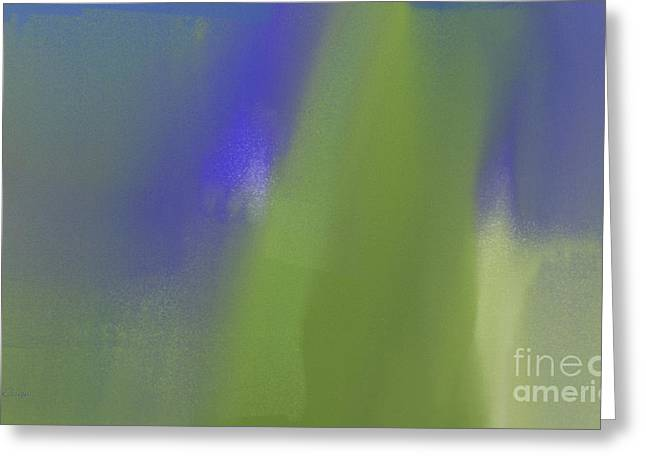 Abstract Blueberries Greeting Cards - Blueberry And Avocado Abstract Greeting Card by Andee Design