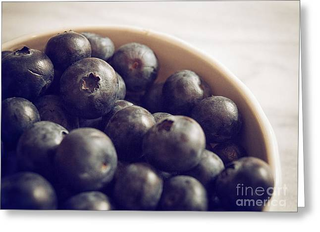 Blueberry Bowl Greeting Card by Alison Sherrow