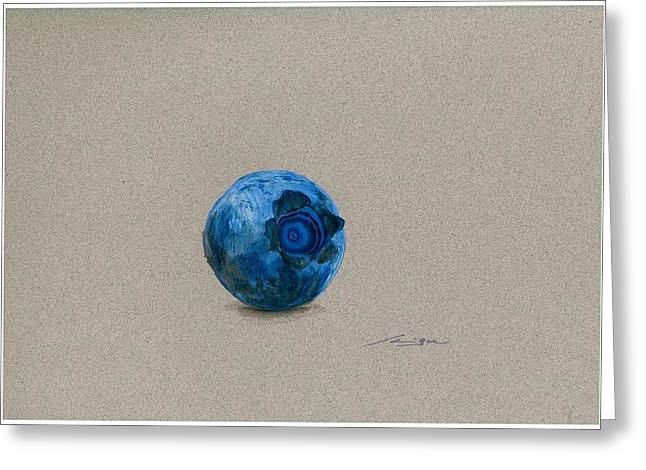 Blueberries Drawing Greeting Cards - Blueberry Greeting Card by Flavio Scramignon