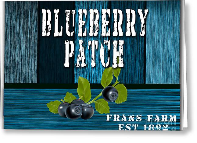 Blueberrys Greeting Card by Marvin Blaine