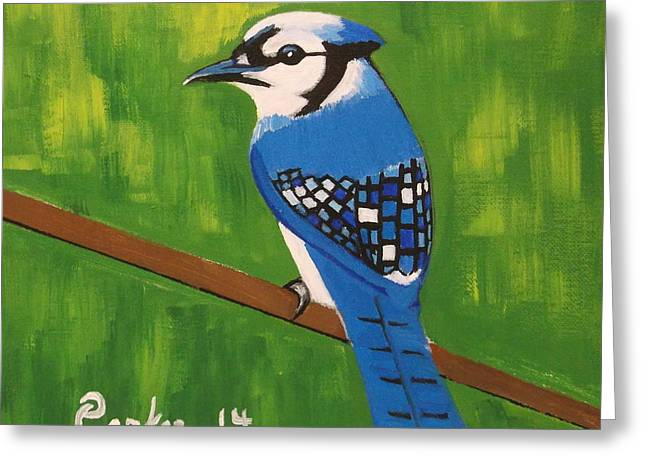 Bluebirds Greeting Cards - Bluebird Greeting Card by Don Parker