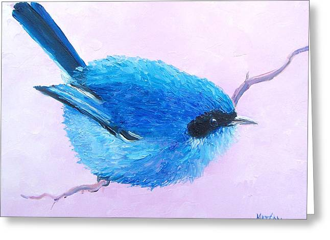 Baby Bird Greeting Cards - Bluebird Greeting Card by Jan Matson