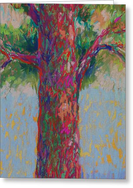 Colorful Trees Greeting Cards - Bluebird of Happiness Tree Greeting Card by Billie Colson
