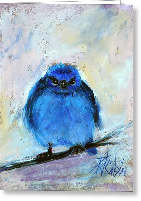 Funny Pastels Greeting Cards - Bluebird of Unhappiness Greeting Card by Billie Colson