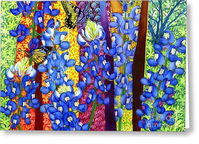 Bluebonnet Garden Greeting Card by Hailey E Herrera