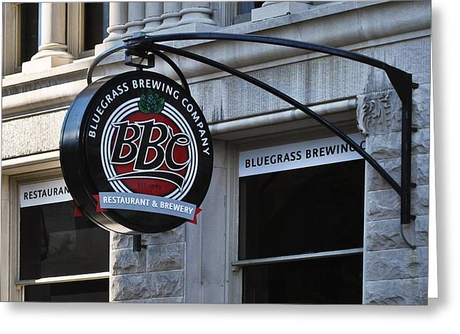 Bluegrass Brewing Company Greeting Card by Greg Jackson