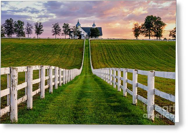 Bluegrass Farm Greeting Card by Anthony Heflin