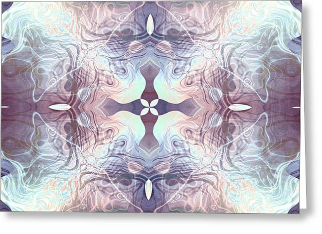Transformations Digital Greeting Cards - Bluelight Cross Greeting Card by Filippo B