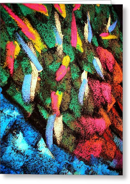 Dwell Pastels Greeting Cards - Bluen ThornGreen Greeting Card by S Patrick Hagen