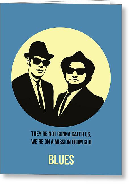 Shows Greeting Cards - Blues Brothers Poster 3 Greeting Card by Naxart Studio