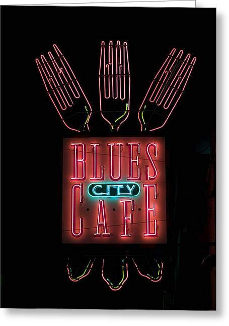 Tennessee Landmark Greeting Cards - Blues City Cafe Greeting Card by Mountain Dreams