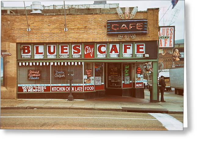 Tennessee Landmark Greeting Cards - Blues City Cafe on Beale Street Memphis Greeting Card by Mary Lee Dereske